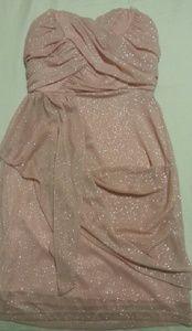 Baby Pink Glitter Dress