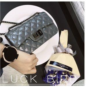 Dark grey jelly bag (chan*l)