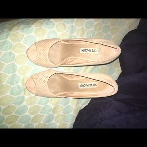 Size 6.5 Steve Madden shoes rose nude chunky heel