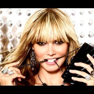 Heidi Klum Intimates Jewelry - HK gunmetal link necklace with crystals