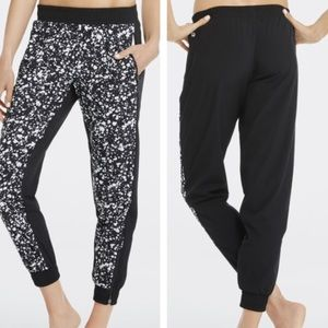 Fabletics Black and White Joggers