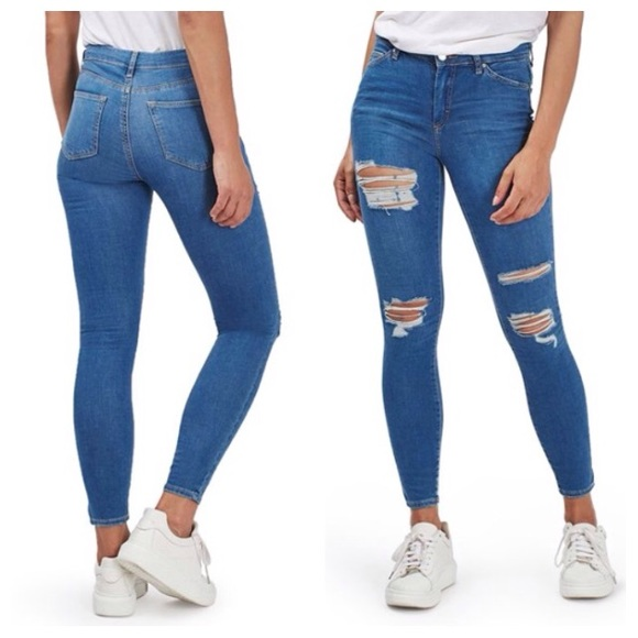 41% off Topshop Denim - NEW! TopShop Moto super ripped Leigh ...