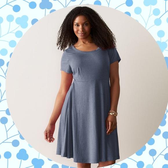 d7888b6a267 Plus Size Super Soft Scoop-Neck Fit   Flare Dress