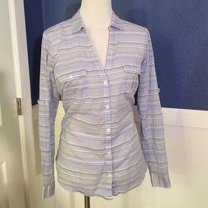 748e39fdbd6c83 Columbia Tops - NWOT Columbia Sun Drifter shirt pale purple stripe