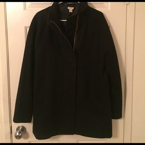 J.Crew Black City coat size 14