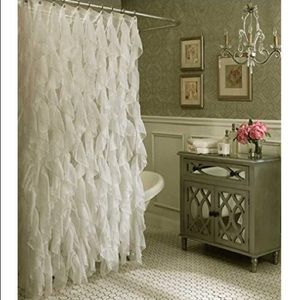 Other - Shabby Chic Ruffled Shower Curtain