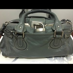 Chloe light grey paddington satchel bag authentic