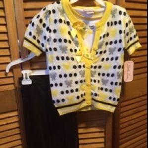 Little Mass Other - Little Lass 3 Piece Cardigans, Shirt & Pants Set