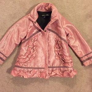 Isobella & Chloe Other - Isobella & Chloe girls pink taffeta jacket. Sz 5.