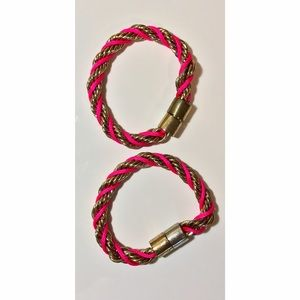 Magnetic Pink and Gold Bracelet Set