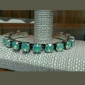 Pacific Blue cuff! Beautiful crystal cuff bracelet