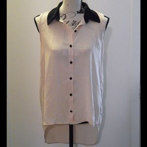 Light Pink Sleeveless Button-down Blouse Sz S