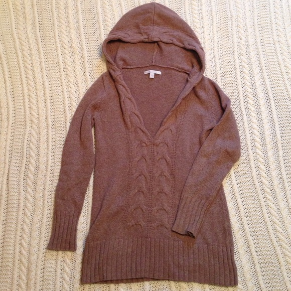 88% off Old Navy Sweaters - Brown hooded tunic sweater from ...
