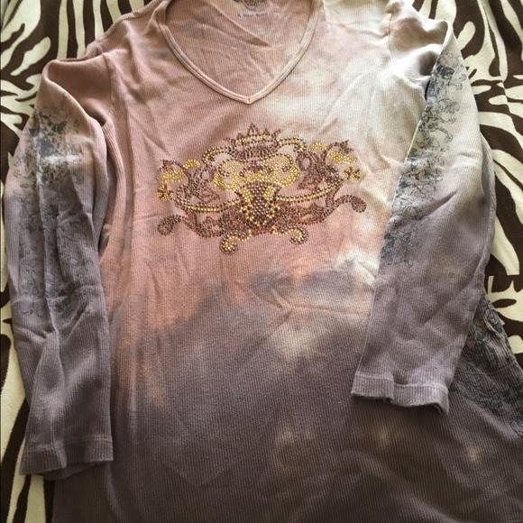 234b8b37918 sledge Tops - Plus size long sleeve ribbed bling tshirt