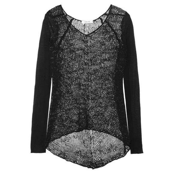 750efe9adedff9 Helmut Lang Sweaters - Helmut Lang Black Open Knit Sweater