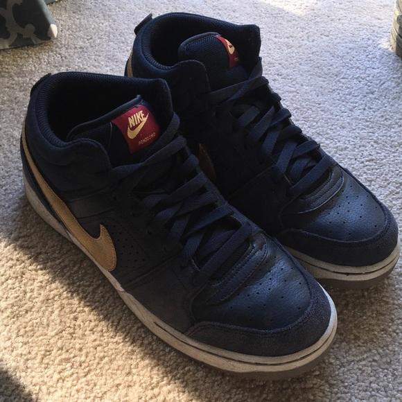 Nike Retro SkateBoarding Athletic Sneakers Gray Blue Mens Size 12 Eur 46
