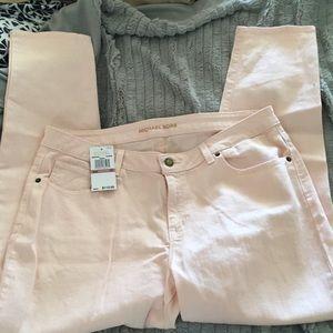 Michael Kors straight pink jean.