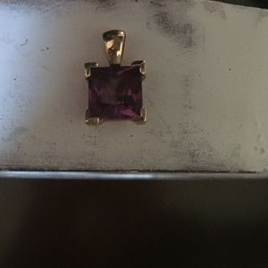 Jewelry - 925 Purple and Gold Cubic Zirconia Pendant