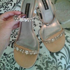 Crystal flower sandals