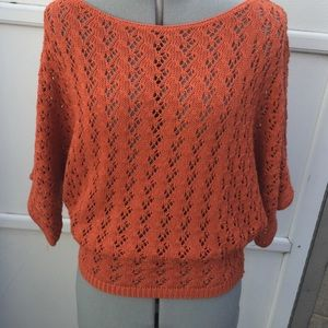 Urban outfitters orange knit sweater