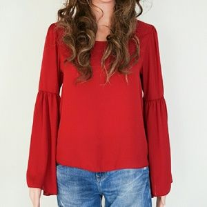 Line up Tops - Red Blouse