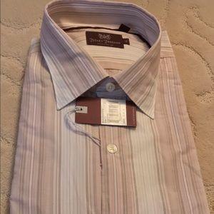 Hickey Freeman Other - Hickey Freeman pink striped dress shirt-NWT