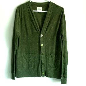 Koto Sweaters - 🌹FINAL PRICE🌹 Olive Button Cardigan