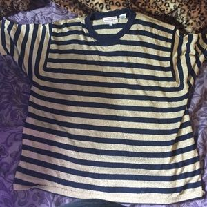 Gold and navy blue striped top from Westbound