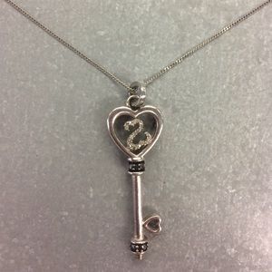 Open hearts by Jane Seymour key pendant necklace!