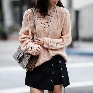 NBF ❤️ Lace Up Chunky Sweater