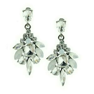 T&J Designs Jewelry - NWT TEARDROP DECO CRYSTAL EARRINGS