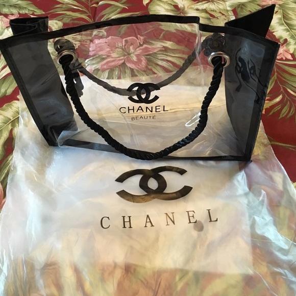 af70830afb39 CHANEL Bags   Clear Makeup Bag   Poshmark