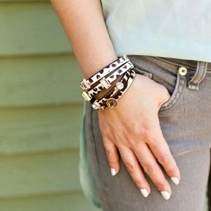 T&J Designs Jewelry - 🔥NWT ANIMAL PRINT DOUBLE BAND BRACELET