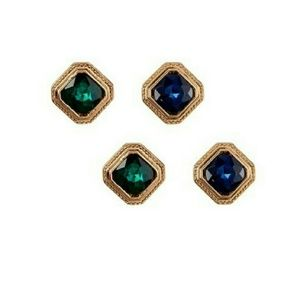 T&J Designs Jewelry - 🔥NWT GREEN AND BLUE GEM STUD SET