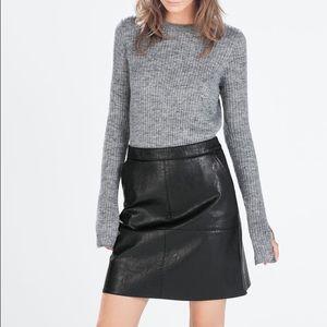 Zara faux leather skirt