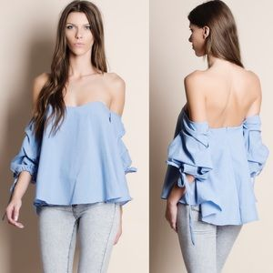 NBF ❤️ Off Shoulder Puff Sleeve Top