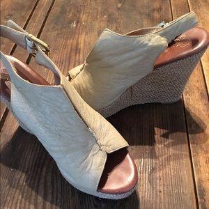 """Matt Bernson Shoes - Matt bernson  buttery leather 4"""" wedge peep toe"""