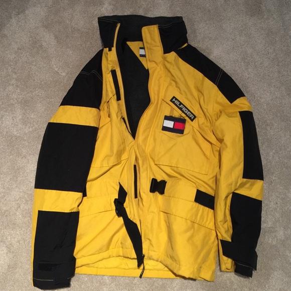 Vintage Tommy Hilfiger Vintage Nylon Hooded Jacket Logo Xxl