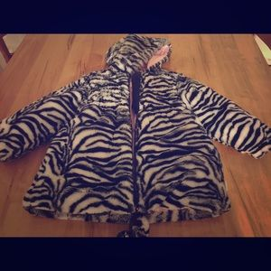 3T girls zebra winter coat