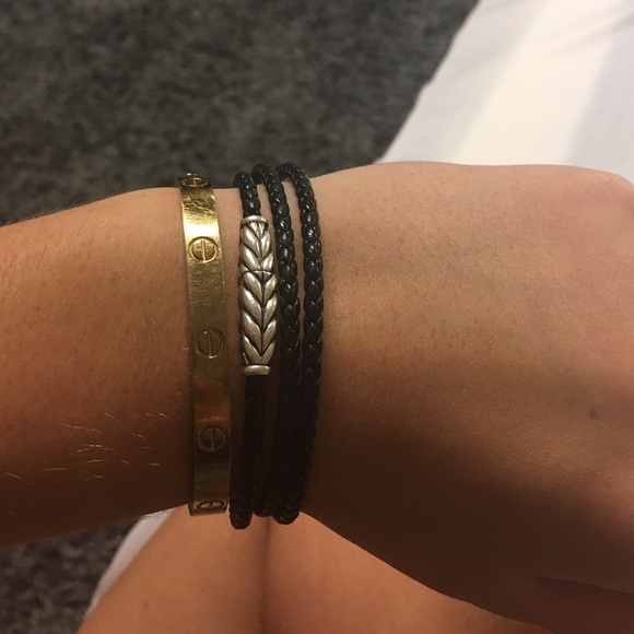 David Yurman Chevron triple-wrap bracelet - Black kwomv