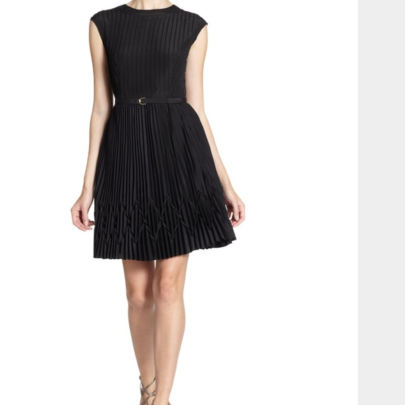 651c62a86aa6 Ted Baker Dresses Terna V Back Pleated Black Dress Belted Poshmark