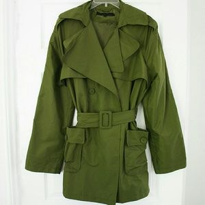 🐢Kenneth Cole🐢Great green trench coat