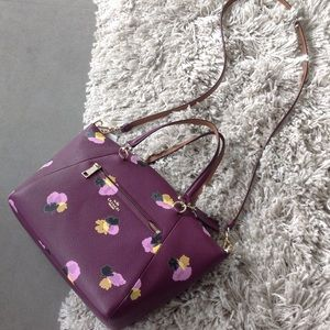 Never worn: COACH  floral crossbody handbag