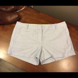 " J.Crew Blue Shorts City Fit 3"" Inseam Sz 8 NWT"