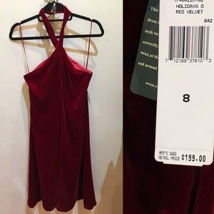 Lauren Ralph Lauren Dresses & Skirts - NWT Red Velvet Ralph Lauren Halter Dress M 8 $199