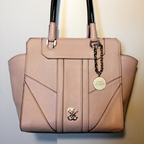 82519aadd592 Guess Handbags - Guess Paxton Avery Nude Satchel