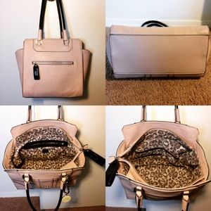 a8a87369f253 Guess Bags - Guess Paxton Avery Nude Satchel