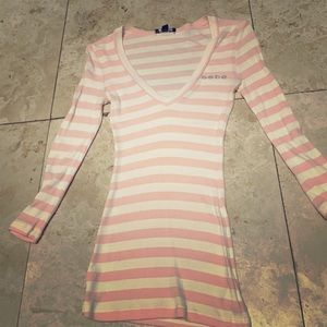 Bebe Long Sleeve Striped Shirt