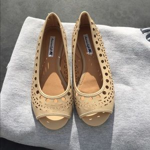 American Eagle by Payless Shoes - American Eagle -Tan/beige colored Flats