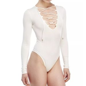 New NASTY GAL renamed SOLD OUT bodysuit Ivory M